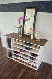 How to make a DIY shoe organizer and rack for the closet. This is also