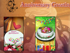 Name On Anniversary Cake Photo Frame Free Download