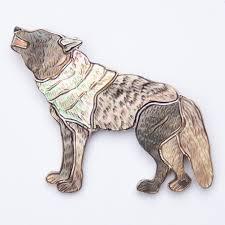 Virgil Shirley Benn Pearl Wolf Pin Brooch Pendant | Wilde Ones London