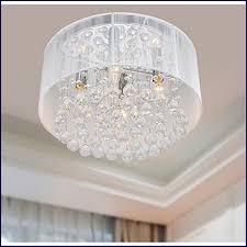 impressive white flush mount chandelier flushmount 4 light chrome and white crystal chandelier livingroom
