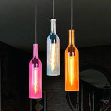 glass bottle lighting glass bottles pendant lamp colorful hanging bottle light lamp holder for restaurant bar glass bottle