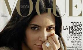 kim kardashian poses for a makeup free shoot with vogue spain daily mail