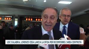 UDC CALABRIA, LORENZO CESA LANCIA LA SFIDA PER RICOMPORRE L'AREA CENTRISTA  - YouTube
