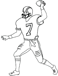 Nfl Football Coloring Pages To Print Football Coloring Page Green