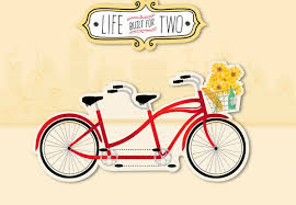 tandem bike from spouse anniversary card greeting cards hallmark