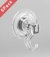 Bathroom Suction Hooks Bathroom Kitchen Vacuum Suction Cup Hook Kabel Leader Clear Pet
