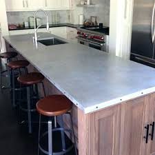 zinc countertops diy patina for kitchen aged zinc table top countertops