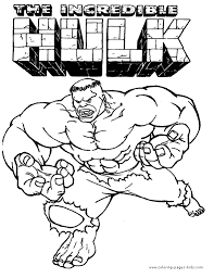 The Hulk Color Page Coloring Pages For Kids Cartoon Characters