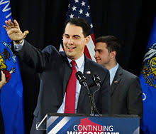 Walker after winning re-election as governor of Wisconsin in 2014
