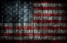 american flag painted on fence background stock photo