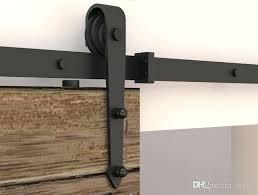 8ft barn door hardware 5 modern rustic black arrow wheel sliding barn door hardware interior sliding