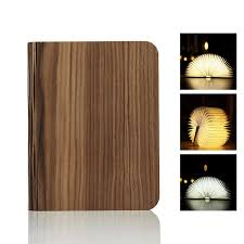 Mood Lamp Book Light Difly Wooden Folding Led Book Shaped Light Usb Rechargeable
