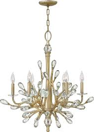 wonderful gold chandelier light hinkley fr46806cpg eve champagne gold chandelier light hin