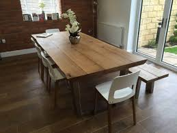 oak dining table. Rustic-oak-dining-table-from-abacus-tables-full- Oak Dining Table
