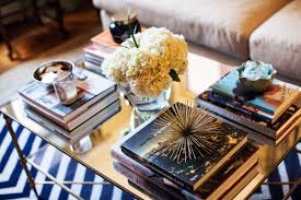 stacked books coffee table