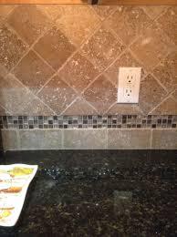 glass travertine tile backsplash. Delighful Tile New Travertine Tile Backsplash With Glass Mosaic Accent In Glass Travertine Tile Backsplash C