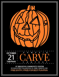 Pumpkin Carving Contest Flyers Halloween Carve A Pumpkin Contest Announcement Flyer Social Media