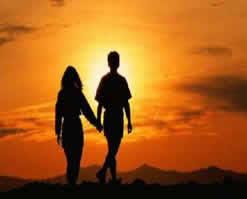 hombre y mujer el uno para el otro