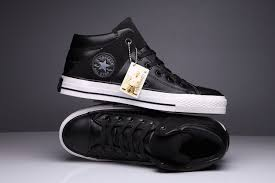 converse black leather high tops shoeclusive deals atlantaexclusive atlanta 8c1cc df6cc