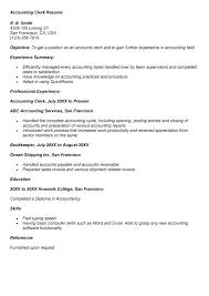 accounting clerk resume   sales   clerk   lewesmrsample resume  accounting clerk resume format