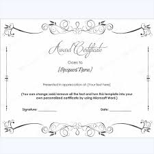 Printable Award Certificates Easy To Personalize And Print