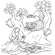Alice In Wonderland Kleurplaten Kleurplatenpaginanl Boordevol