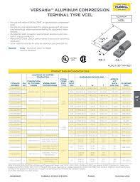 Burndy Crimp Die Size Chart Versatile Aluminum Compression Terminal Type Vcel