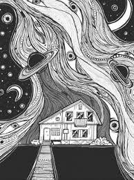 Download Wallpaper 240x320 House Doodles Patterns Illustration