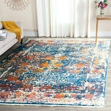 safavieh vintage oriental turquoise distressed silky viscose rug collection evoke ivory blue