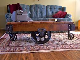Industrial Factory Cart Coffee Table Vintage Industrial Factory Cart Coffee Table Home Design And