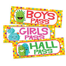Hall Passes For School A Sharp Bunch Hall Passes Eureka School