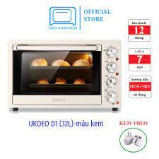 Lò nướng UKOEO 32L D1 màu kem (bản nội địa). Lò nướng bánh gia đình. Hàng  chính hãng, bảo hành 12 tháng - Lò vi sóng