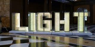 mammoth sized letters spelling light were 3d printed from materialise s largest data set