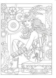 Small Picture Adult Coloring page from Creative Haven Steampunk Fashions