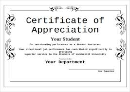 Certificate Of Excellence Template Word Beauteous 48 Sample Certificate Of Appreciation Temaplates To Download
