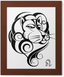 Znamení Lev Tetování Design