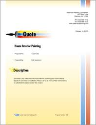 Painting Contractor Sample Proposal 5 Steps