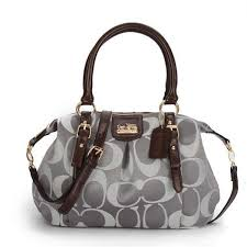 Coach Madison Kelsey In Signature Medium Grey Satchels ATM Can Match Your  Any Clothes, Come