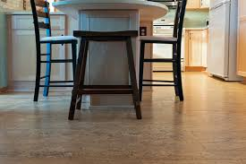 cork floor tiles in the kitchen