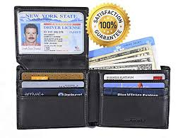 Card Blocking Amazon com Leather Mens Wallet Rfid Credit Genuine xHx7wOP