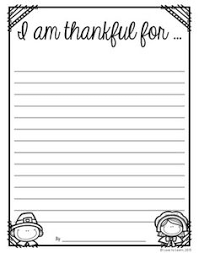 thanksgiving writing what i am thankful for plus bie thanksgiving writing paper