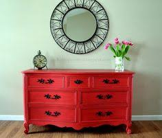 painted red furniture. picked u0026 painted red furniture r