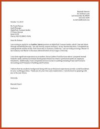 internship cover letter example resumetem internship cover letter example cover letter examples for