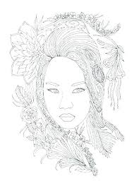 Self Portrait Coloring Page Self Portrait Coloring Page Self