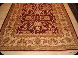 elegant 6 x 9 fine quality cherry red gold color rug