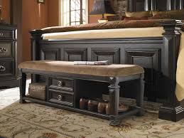 Long Bedroom Bench Bedroom Charmful Beige Color Along Bed Bench Plus End Bed Bench