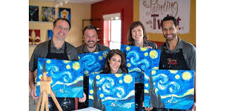 painting with a twist starry night