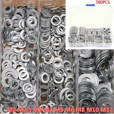 <b>580Pc Stainless Steel</b> Washer/Flat Washer Assortment Set For M2.5 ...
