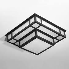 rectangular ceiling light. Art Deco Ceiling Light / Square Rectangular Steel