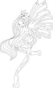 Flora Sirenix Full Coloring Page by icantunloveyou on DeviantArt